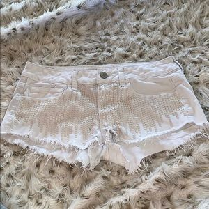 American eagle white sequins Jean shorts!